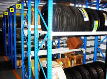 ISO approved Medium duty load of capacity 200-500kgs/layer steel Q235 warehouse truck tyre storage rack