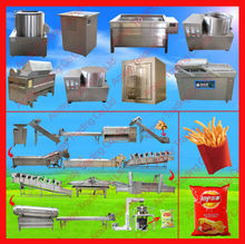 electric semi-automatic and full automatic potato chips production line, frozen french fries, potato chips machine