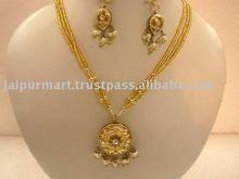 Handmade cz stone Fashion Lakh/lac pendant Jewellery of Jaipur