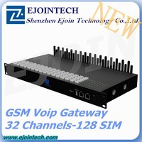 One year Warranty!! 2015 Ejoin 128 sim voip sip rotation gateway with anti sim blocking, gateway networking device