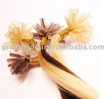 European remy V-tip glue bonded hair extension
