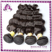 100% natural Dyeable malaysian clip in hair