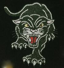 Black Panther Roar Rhinestone Tiger Design Transfer Iron On Hot Fix Motif Bling Applique