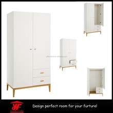 3 Piece Bedroom Set white High Gloss Double Wardrobe, Bedside Cabinet, Chest of Drawers