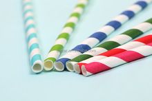 Wedding Accessories Striped paper straws party supplies