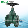DIN F4 NRS spindle gate valve, through conduit rubber wedge gate valve drawing