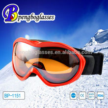 low price durable double lens ski goggles