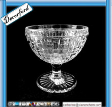 Woven Pattern crystal glass ice cream cup