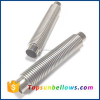 China flexible small pipe metal expansion joints exhaust steel bellows