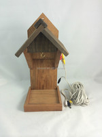 New Design FSC Wooden bird feeder with camera in factory for BSCI