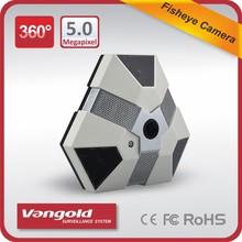 5 megapíxeles cámara panorámica 360 grados y 180 grados de ojo de pez cámara cctv
