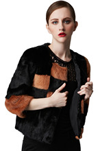 AKleatherware New Fashion Luxury Winter Natural Mink Fur Coats for Ladies