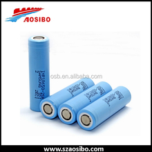 Blue samsung 18650 25r battery high drain samsung lithium ion battery cell 18650 from Aosibo hk warehouse