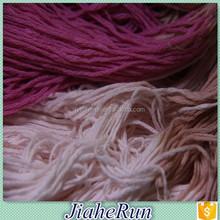 6Nm acrylic tube yarn hollow fancy yarn for knitting weaving
