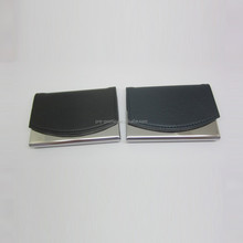 Creative metal and leather pocket card holder