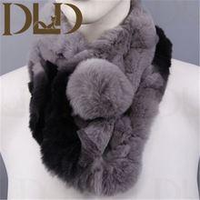 Factory direct wholesale price rex fur neck warmer
