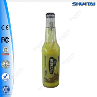 Bottle Shaped Vacuum Sucking LED Advertising Light Box Beer Signs