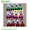 Santa Christmas decoration felt craft hanign decorations with merry Christmas