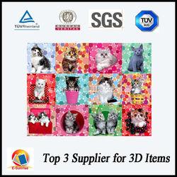 beautiful cat family photos/3d picture of lovely cat/3d premiums for pet shop