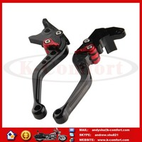 KCM382 14.5CM Motorcycle Hand Levers Brake Clutch Controls Handle CNC Adjustable for GSXR600 GSXR750 GSXR1000 TL1000S Black