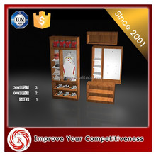 wooden table top display stand for dress clothes/Retail fashion mdf lingerie store display furniture