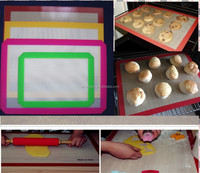 FDA approved BPA free non stick fiberglass silicone baking mat