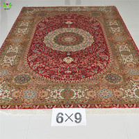 Top-selling 6x9ft hand made best quality persian silk and hand knotted silk carpets/rugs