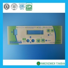 Flat membrane switch panel for remote controller