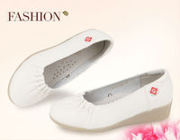 fancy new design leather white dress shoes for women