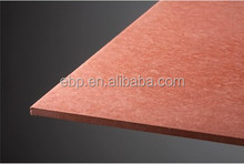 High density and high strength compressed fiber cement board, colored for decoration