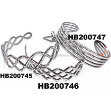 wholesale fashion silver rhinestone plastic headbands