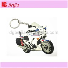 Cool car motorcycle shape custom silicone rubber soft pvc keychain