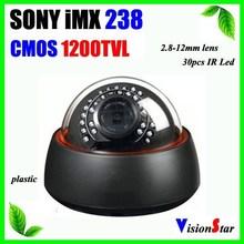 1200TVL Sony IMX238 Spport OSD Menu 2.8-12mm lens indoor CCD Camera