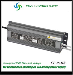High Efficiency waterproof LED driver 150w 12v 24v game power supply with Neutral Packing