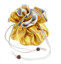 2015 hot sale satin drawstring jewelry pouch & fabric drawstring jewelry pouch pattern & small drawstring pouches