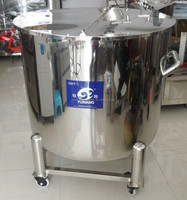 500L stainless steel water storage tanks open top type