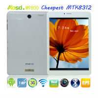 2014 New 7.85inch mtk8312 3g android tablet usb host bluetooth gps M9800.