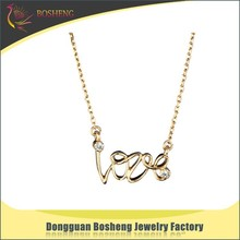 Factory Direct love necklace i love you necklace