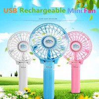 3 Speed Portable battery clip Rechargeable USB Mini Electric Fan with clip for outdoor travelling