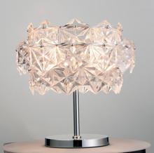 diamond cutting glass chrome finish table lamp
