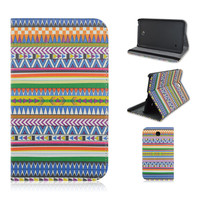 New Products Hot Selling Fashion Aztec Tribal Leather Cover Cases for Samsung Galaxy Tab 4 7.0 T230