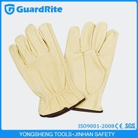 GuardRite Brand Soft and Durable Mens' Leather Driving Gloves Leather Gloves for Driving