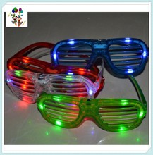 Blinking Led Light Up Glow Flash Rave Party Shutter Glasses HPC-0677