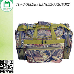 Durable Waterproof Polyester Duffel bag Printed Travel bag with with compartments side pockets