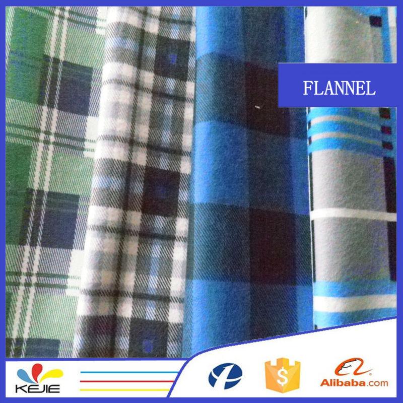 Fashion autumn shirt fabric 100 cotton plaid shirt fabric for Thick material t shirts