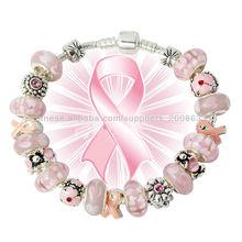 2015 de la moda logotipo del cáncer de mama pulsera