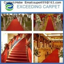 Red wedding square fair event exhibition carpet rolls
