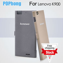 J Original Lenovo K900 Case Mobile Phone Protective Leather Case Flip Cover With Stand Free Shipping