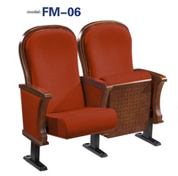 FM-06 High grade church theater seat with armrest for sale