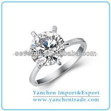 venta al por mayor clásico puntas ajuste solitario 925 diseño de anillo de plata con aaa cz diamante anillos de compromiso